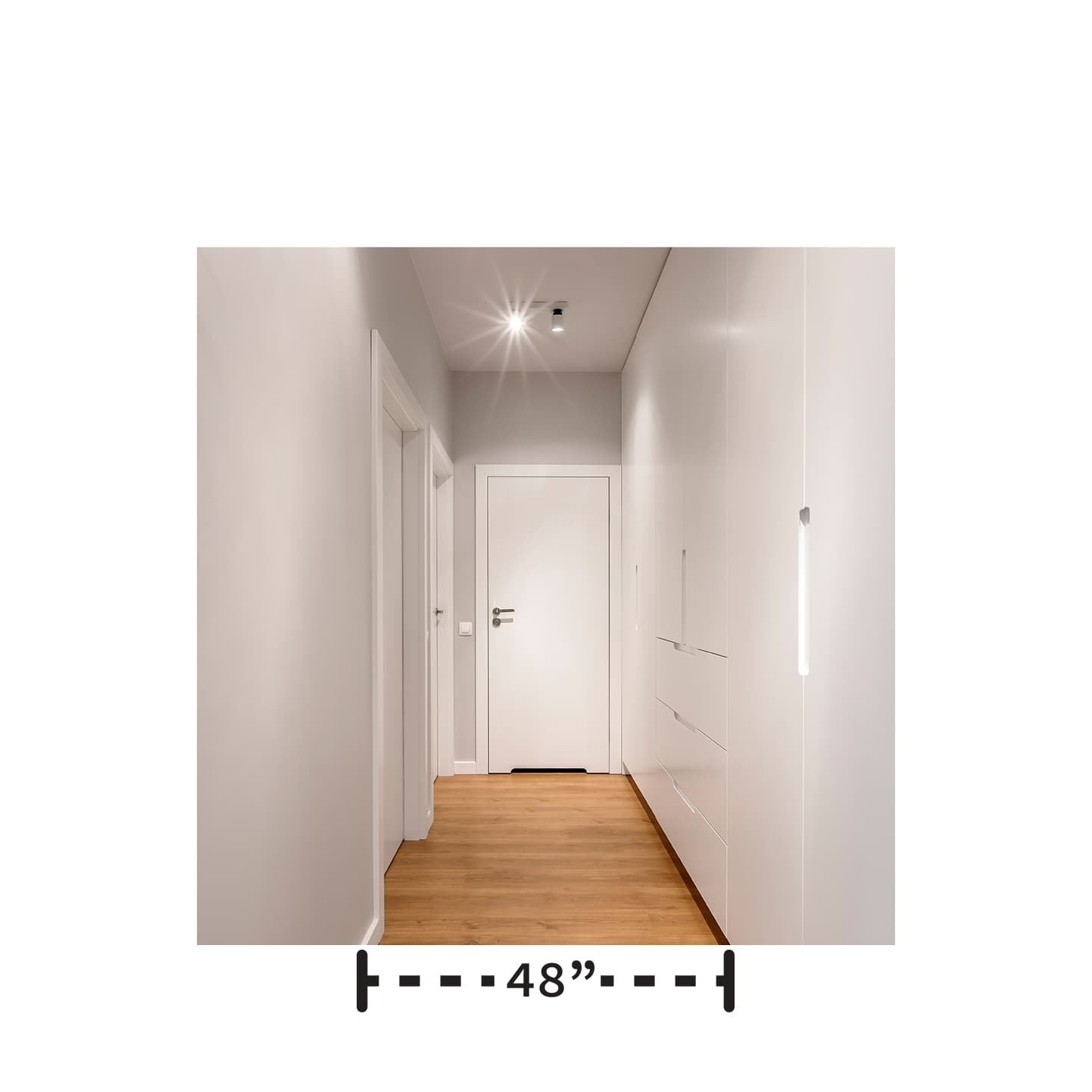 entrance is 48 inch wide