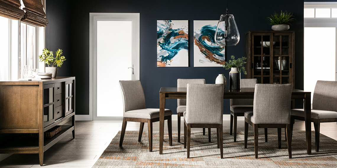 Modern Dining room with galleria dining set