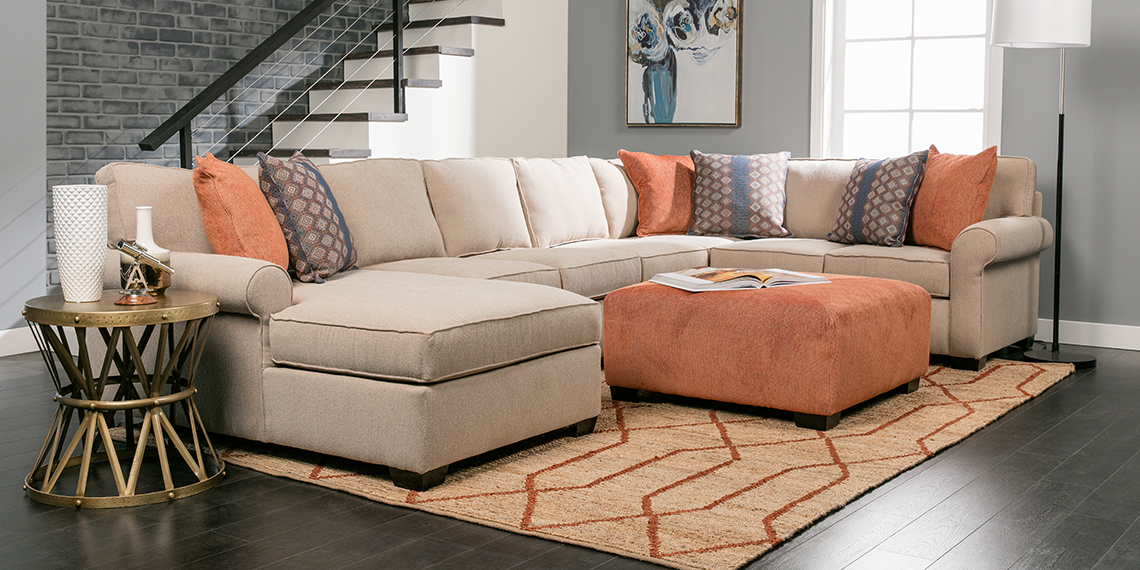 Contemporary / Modern Traditional Living Room With Camilla Sofa ...