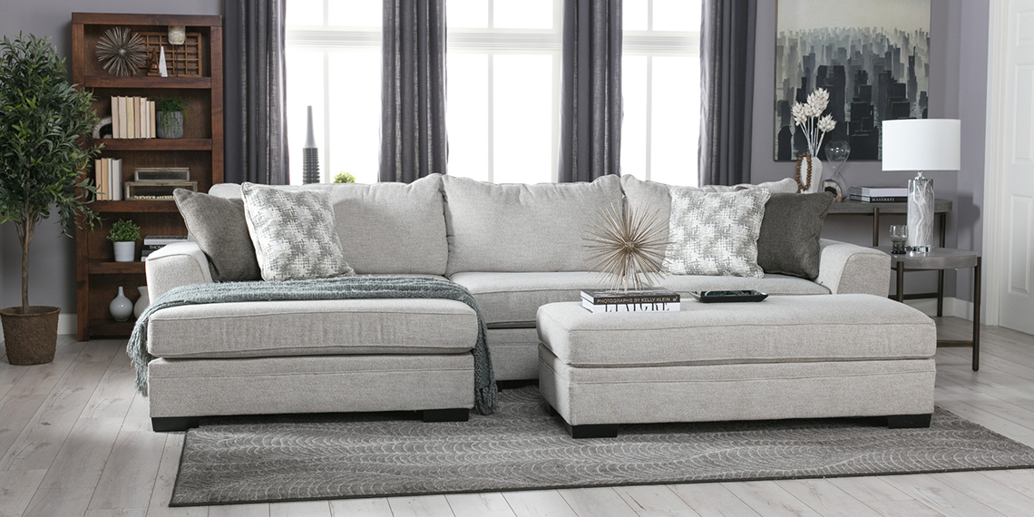 Transitional Living Room With Delano Sofa | Living Spaces