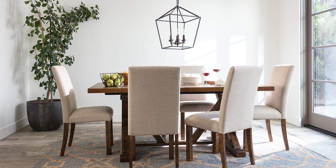 Transitional Dining Room With Chandler Dining Set | Living Spaces