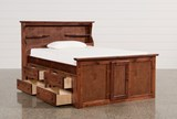 Sedona Full Bookcase Bed With Single 4- Drawer Captains Unit - Left