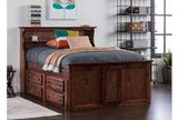 Sedona Full Bookcase Bed With Single 4- Drawer Captains Unit - Room