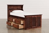 Sedona Twin Bookcase Bed With Single 4- Drawer Captains Unit - Left