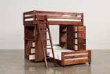 Sedona Twin Over Twin Loft Bunk With Chest & Desk - Left