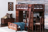 Sedona Twin Over Twin Loft Bunk With Chest & Desk - Room