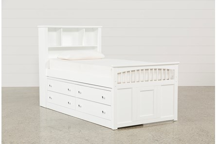 Bayfront Twin Captains Bed With Single 4-Drawer Unit - Main