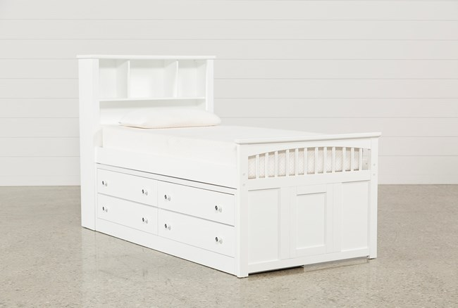 Bayfront Twin Captains Bed With Single 4-Drawer Unit - 360