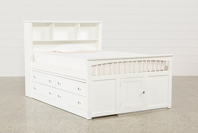 Bayfront Full Captains Bed With Single 4-Drawer Unit - 360