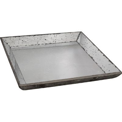 Weathered Mirror Tray Large