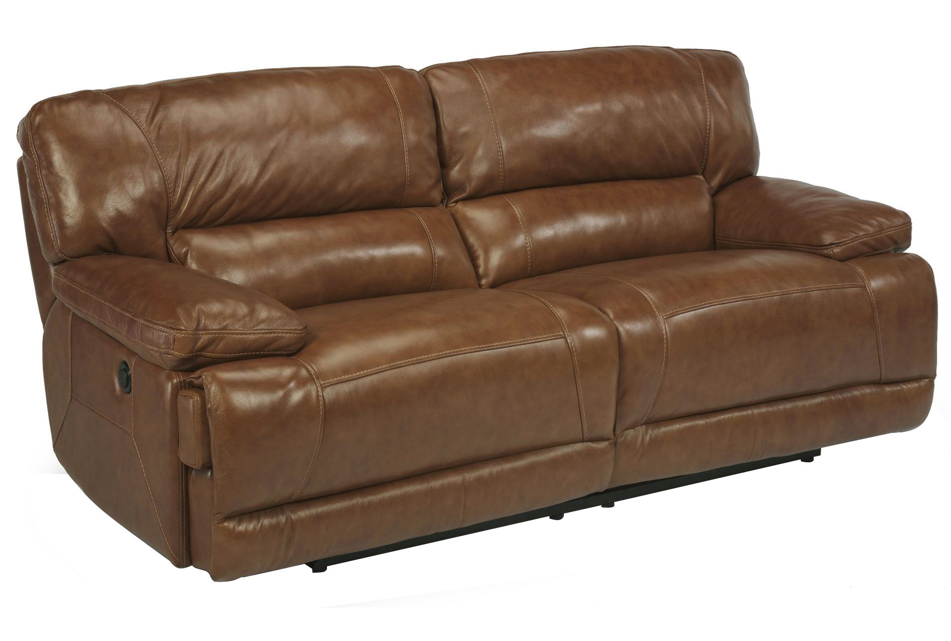 Fleet Street Leather Power Dual Reclining Loveseat Living Spaces