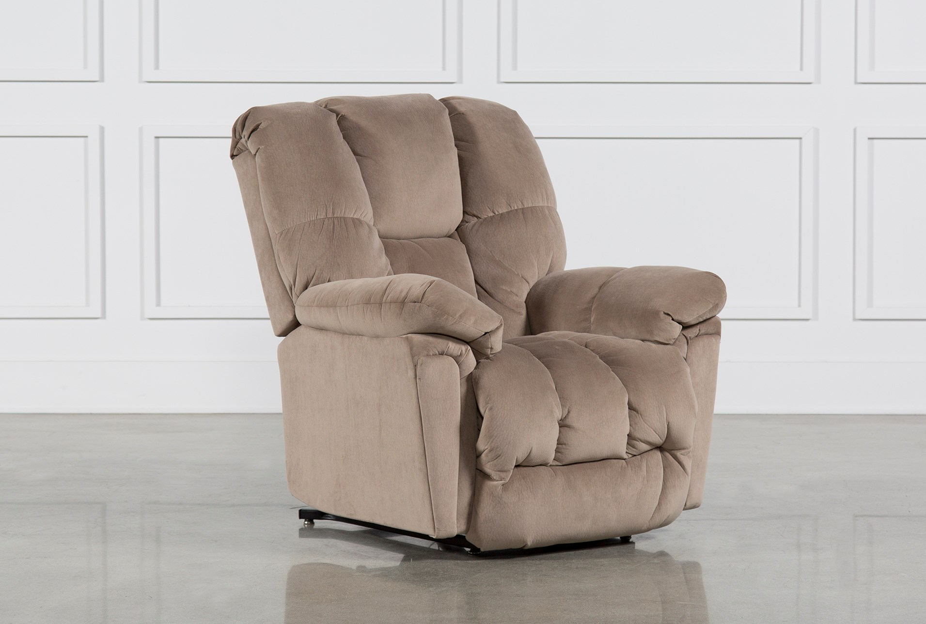 reclining chair cream recliner faux brown raygar massage office luxury point leather