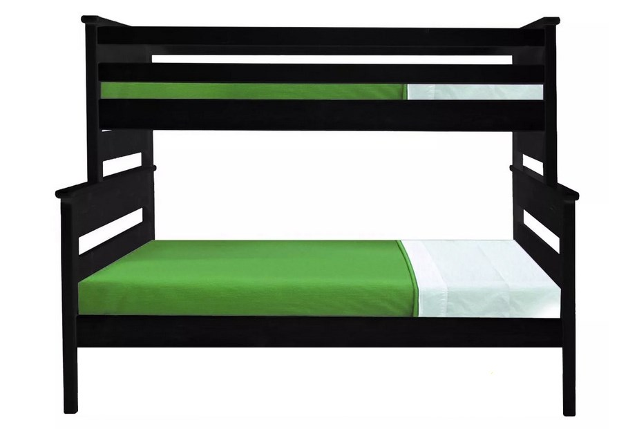 Laguna Black Twin Over Full Bunk Bed Living Spaces