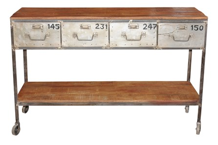 Sawan Finish Industrial Console Table