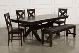 Pelennor 6 Piece Extension Dining Set - Top