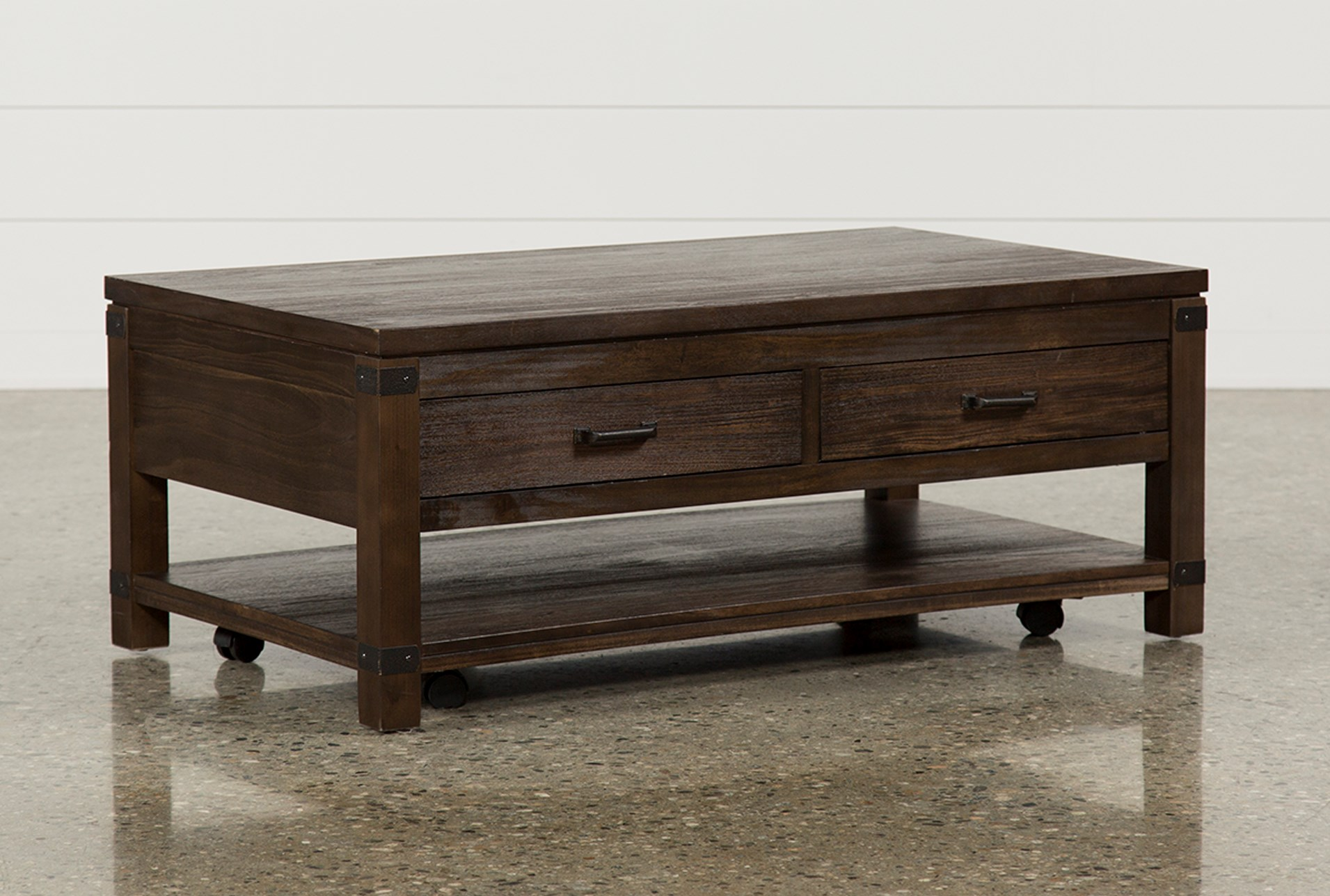 livingston cocktail table w  drawers living spaces