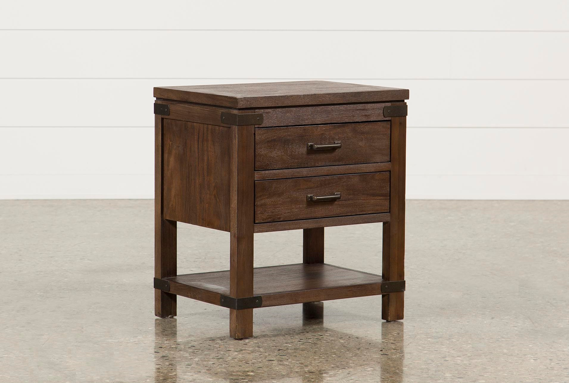 Livingston 2 Drawer Nightstand | Living Spaces
