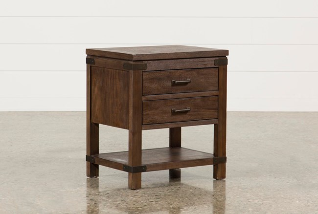 Livingston 2-Drawer Nightstand - 360