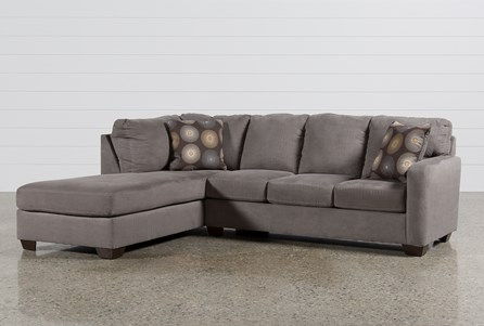 Zella Charcoal 2 Piece Sectional W/Laf Chaise