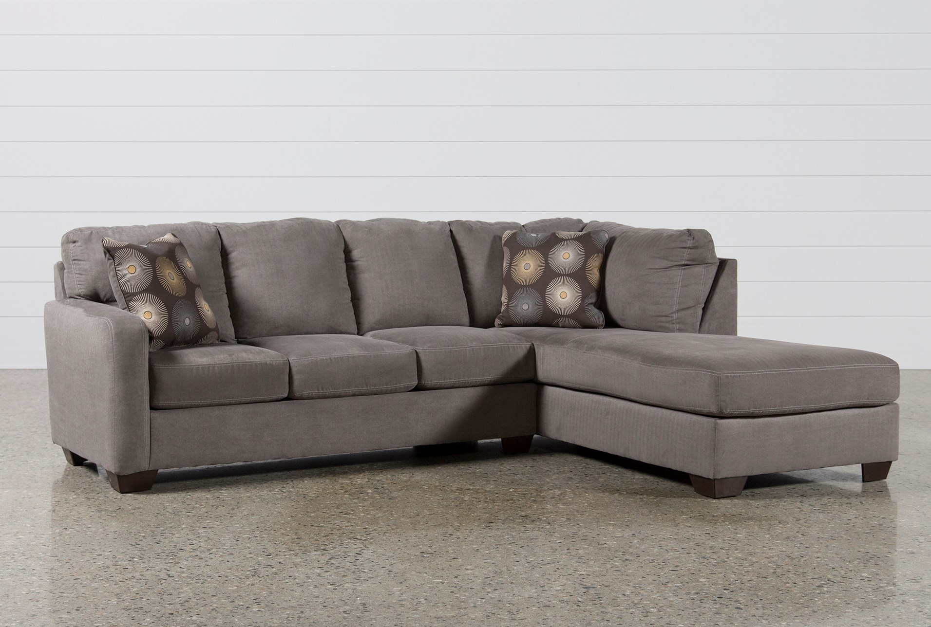 Zella Charcoal 2 Piece Sectional W Laf Chaise Living Spaces ~ Sectional Sofa Charleston Sc