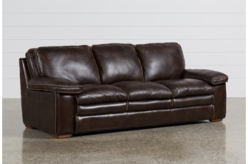 "Walter Leather 92"" Sofa"