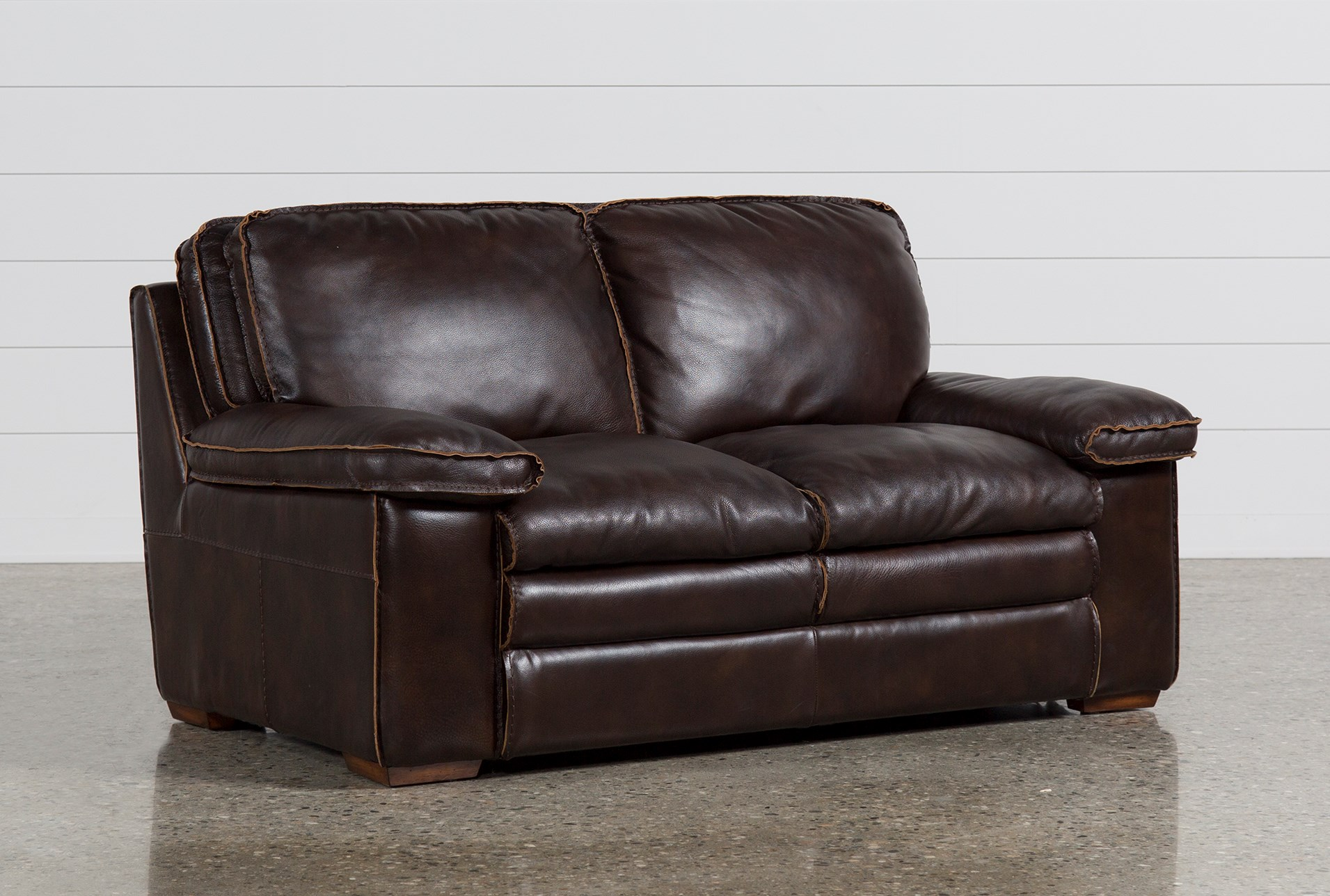 Peachy Walter Leather Loveseat Gmtry Best Dining Table And Chair Ideas Images Gmtryco