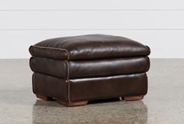 Walter Leather Ottoman