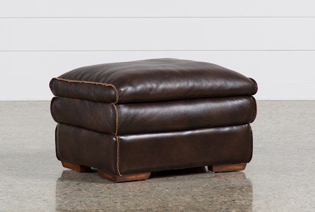Walter Leather Ottoman - 360