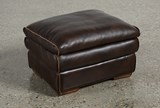 Walter Leather Ottoman - Back