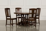 Arlo Wood 5 Piece Round Dining Set - Signature