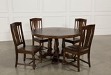 Arlo Wood 5 Piece Round Dining Set - Back