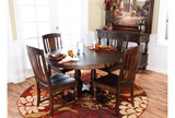 Arlo Wood 5 Piece Round Dining Set - Room