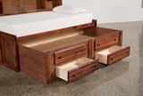 Sedona Full Roomsaver Bed With 2- Drawer Captains Trundle - Left