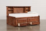 Sedona Twin Roomsaver Bed With 2- Drawer Captains Trundle - Left