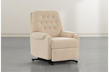 Amelia Almond Power-Lift Recliner