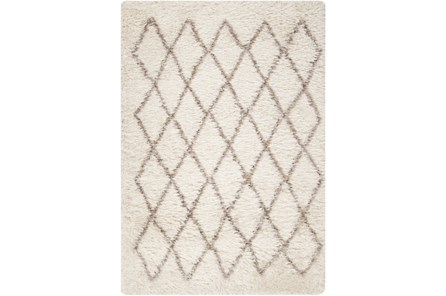 60X96 Rug-Faith Shag Ivory - Main