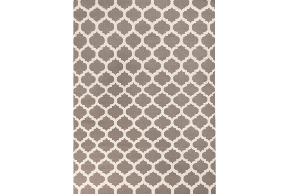 96X132 Rug-Tron Taupe/Wht