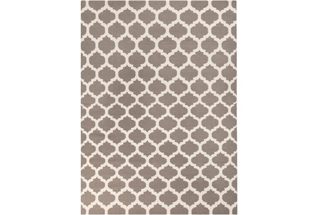 96X132 Rug-Tron Taupe/Wht - 360