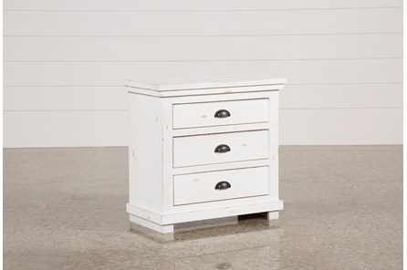 Sinclair White Nightstand - Main