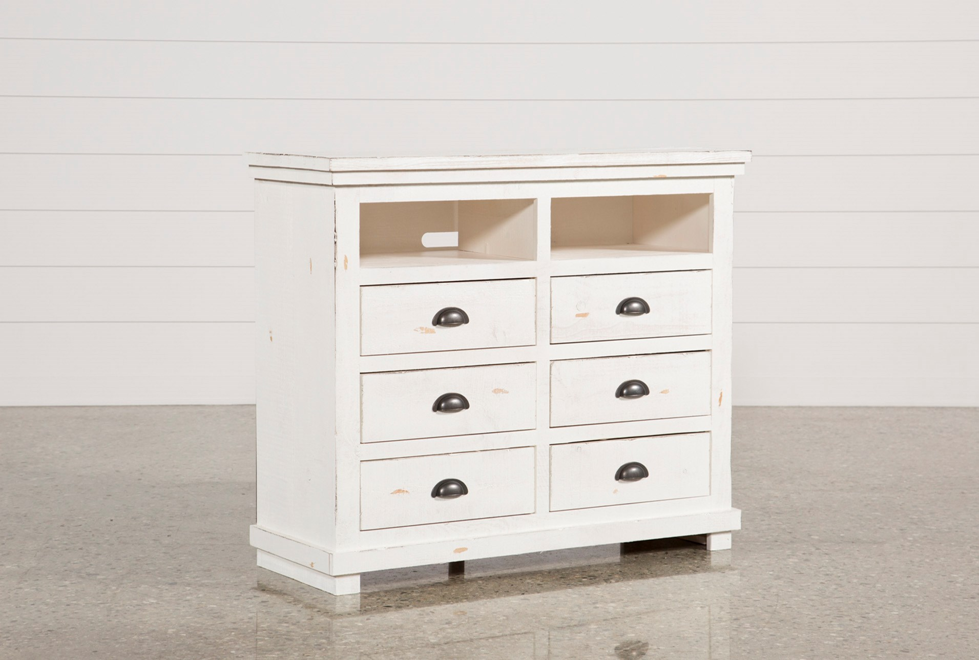 classics cottage natural farmhouse media collections white distressed solid dresser cresent