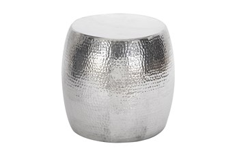 Aluminum Hammered Stool
