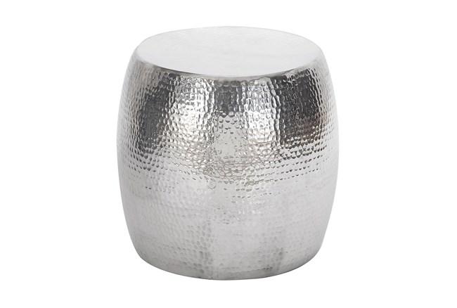 Aluminum Hammered Stool - 360