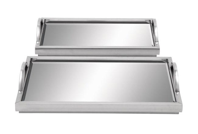 2 Piece Set Mirror Trays - 360