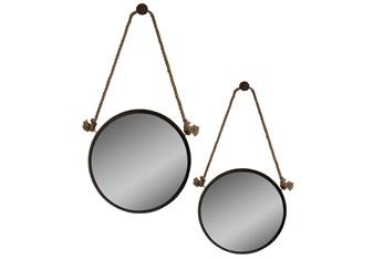 Mirror-2 Piece Stuart Jute & Metal 24X24