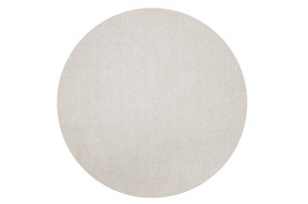96 Inch Round Rug-Elation Shag Ivory - Main