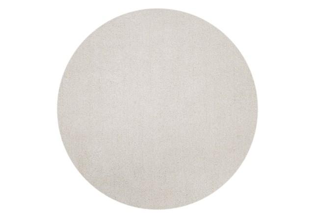 96 Inch Round Rug-Elation Shag Ivory - 360