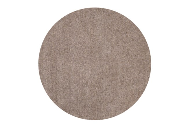 96 Inch Round Rug-Elation Shag Beige - 360