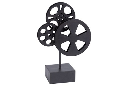 Metal Movie Reel Black