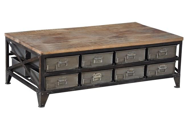 Aziz Storage Coffee Table - 360