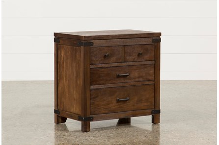 Livingston 3-Drawer Nightstand - Main
